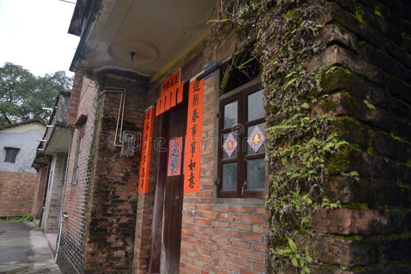 Maison de ville rustique de brique ?trange photo libre de droits