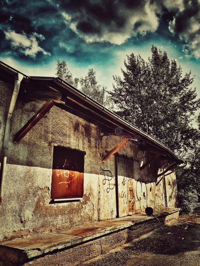 Maison de vintage images libres de droits