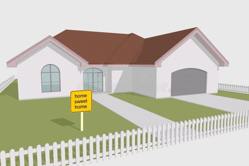 Maison douce à la maison illustration de vecteur