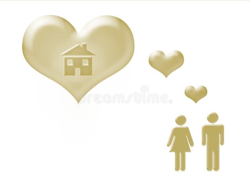 Maison douce à la maison illustration libre de droits