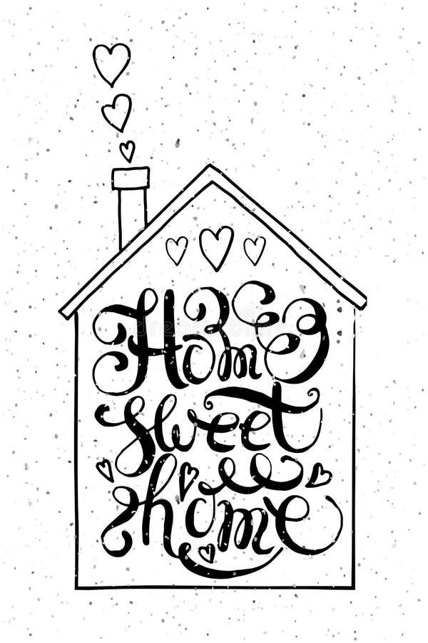 Maison douce à la maison de citation illustration libre de droits