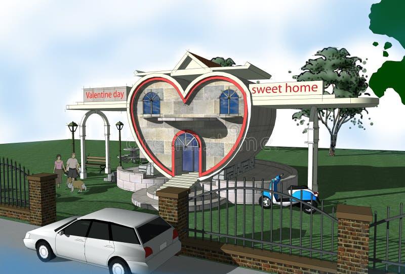 Maison douce illustration libre de droits