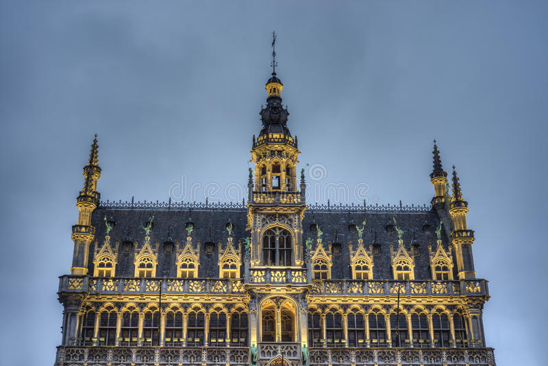 The Maison du Roi in Brussels, Belgium. The Maison du Roi (King's House) or Broodhuis (Bread house) on Grand Place (Grote Markt), the central square of Brussels royalty free stock images