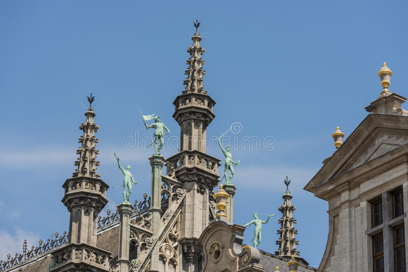 Maison du Roi in Brussels, Belgium. Maison du Roi (Kings House) or Broodhuis (Bread hall), one of the buildings counted as a UNESCO World Heritage Site in stock photos