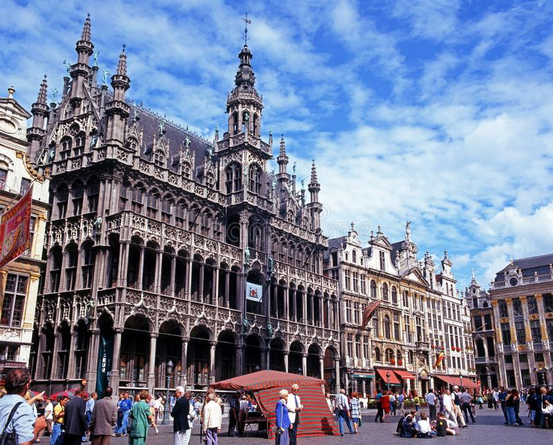 Maison du Roi, Brussels. View of the Maison du Roi (Kings House) in the Grand Place, Brussels, Belgium, Western Europe stock photography