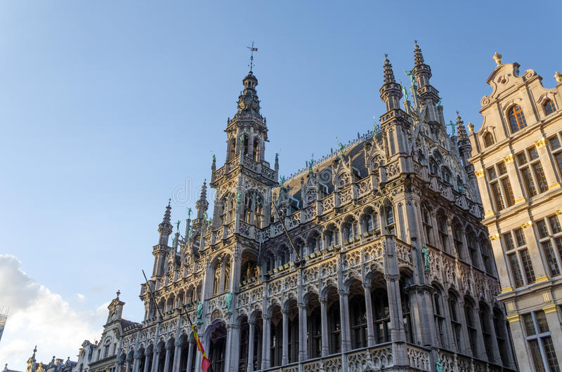 Maison du Roi (The King's House or Het Broodhuis) in Grand Place. Brussels, Belgium royalty free stock photography