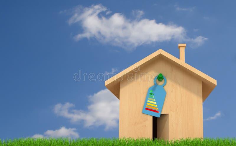 Maison en bois écologique illustration de vecteur