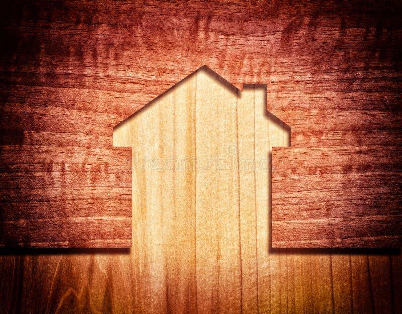 Maison en bois illustration libre de droits