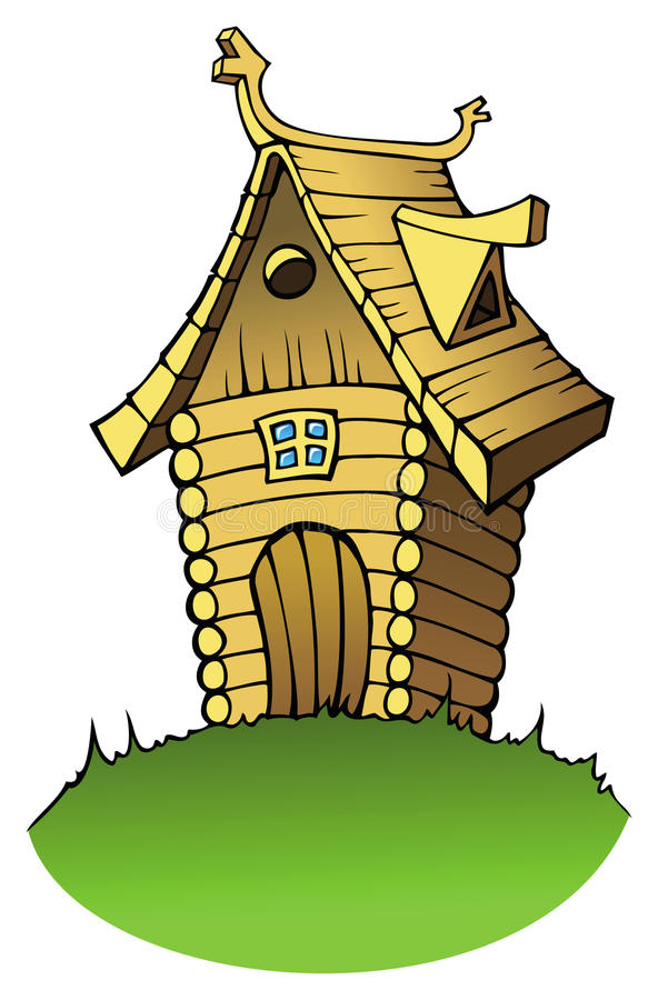 Maison En Bois De Dessin Anim Illustration De Vecteur