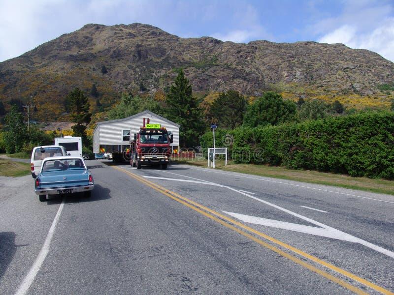 Maison en bois mobile au Nouvelle-Zélande images stock