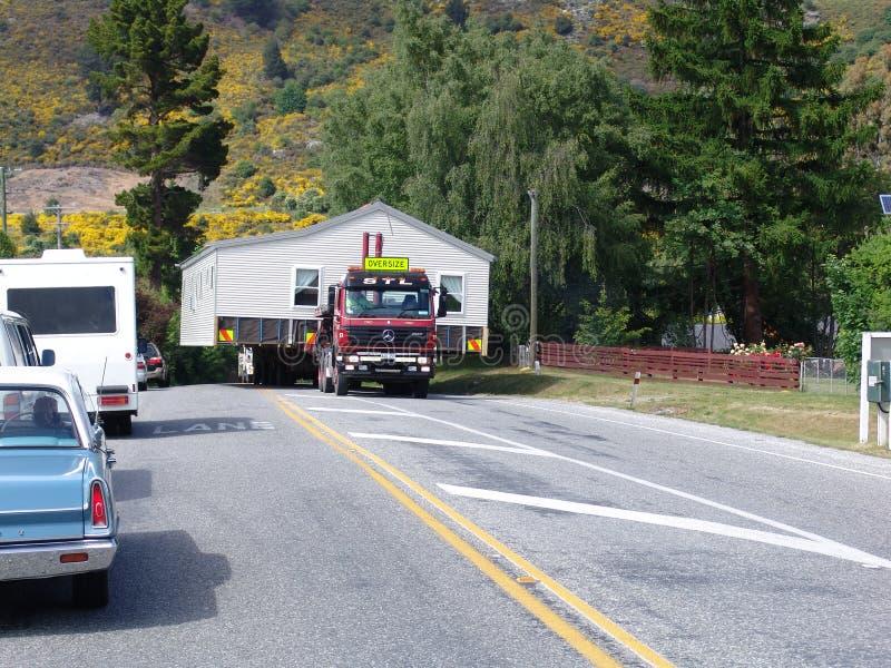 Maison en bois mobile au Nouvelle-Zélande image libre de droits
