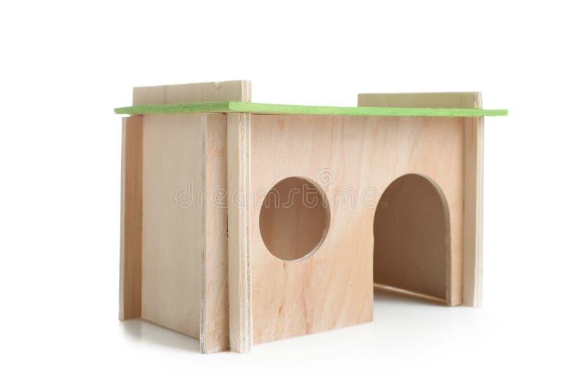 Maison en bois pour le rat photos stock