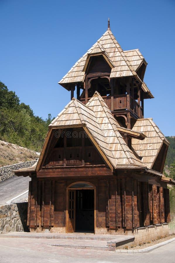 Maison en bois rustique photographie stock