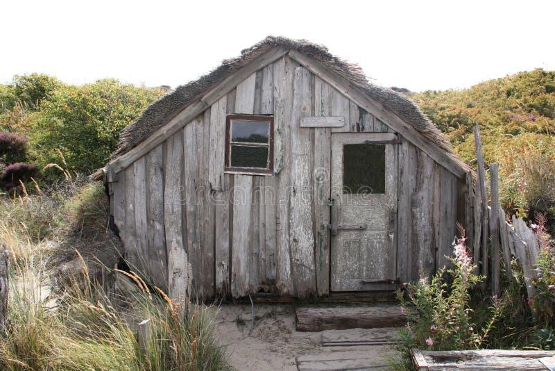 Maison en bois sur Texel photo libre de droits