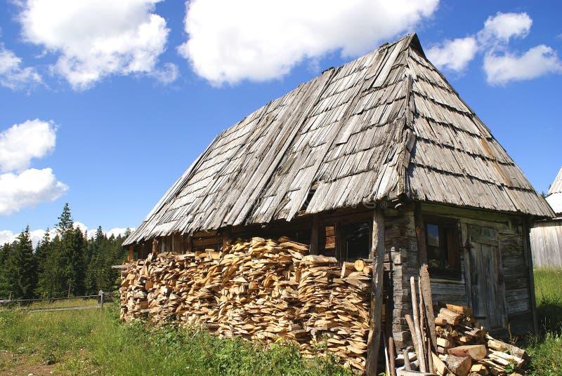Maison en bois traditionnelle images libres de droits