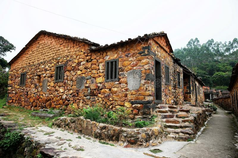 Maison en pierre photographie stock