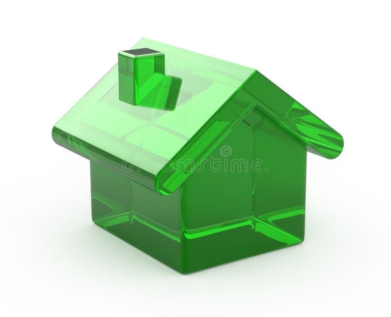 Maison en verre vert illustration libre de droits