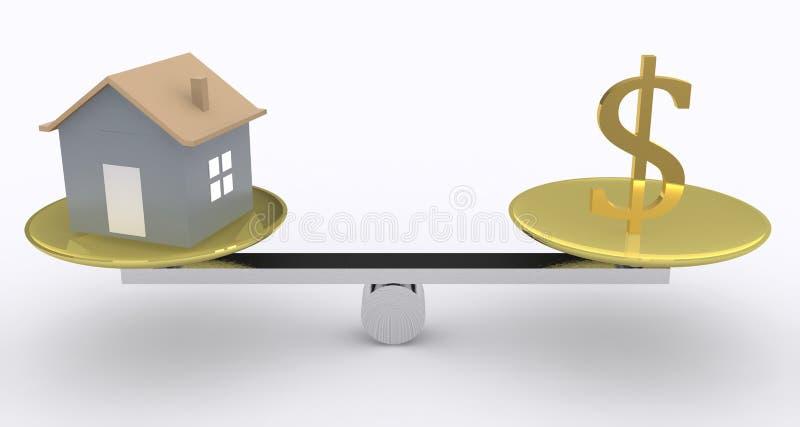 Maison et argent illustration de vecteur