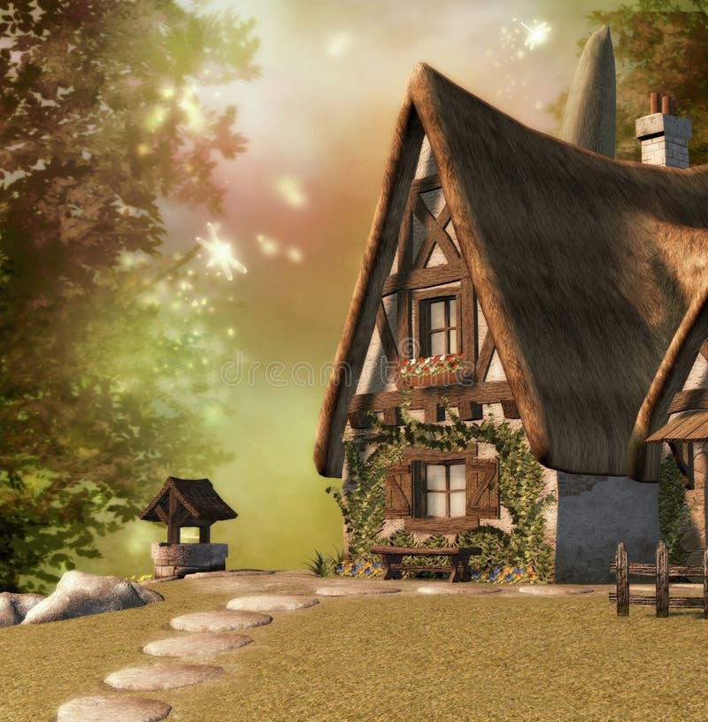 Maison féerique illustration de vecteur