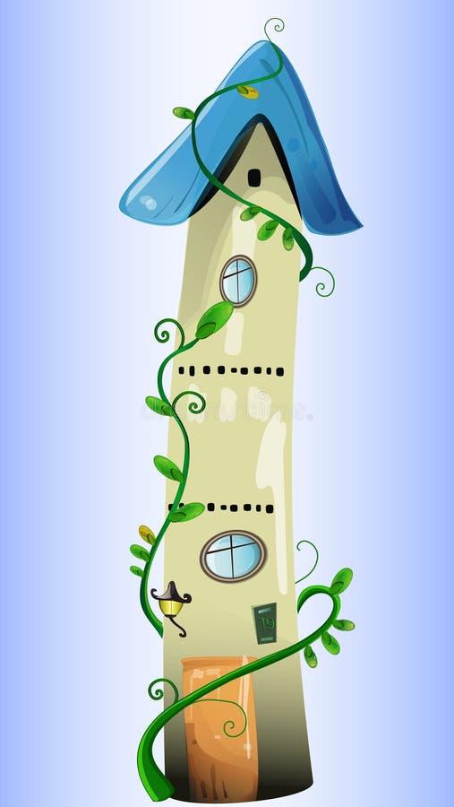 Download Maison Fabuleuse Avec Les Plantes Vertes Illustration de Vecteur - Illustration du cartoon, héros: 45368661
