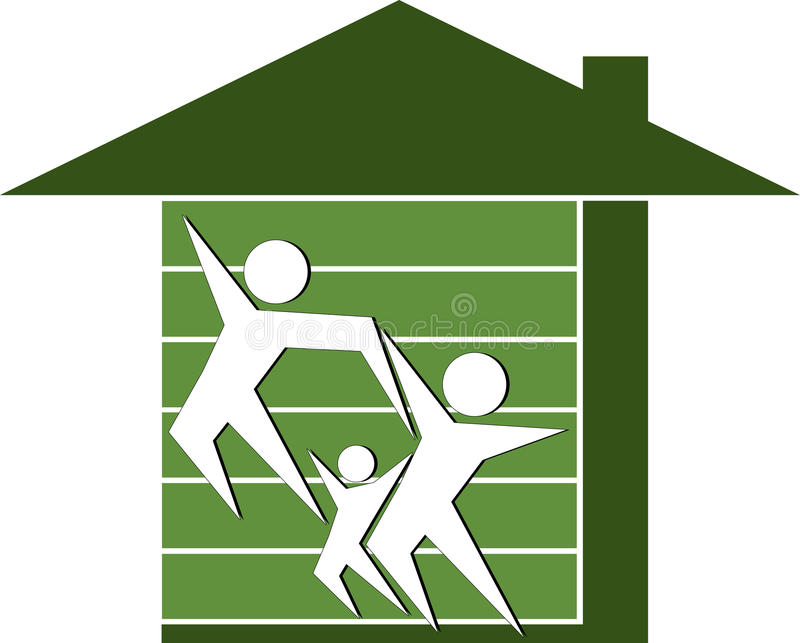 Maison familiale illustration libre de droits