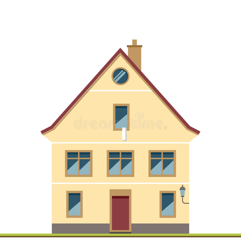 Maison familiale Maison traditionnelle illustration de vecteur