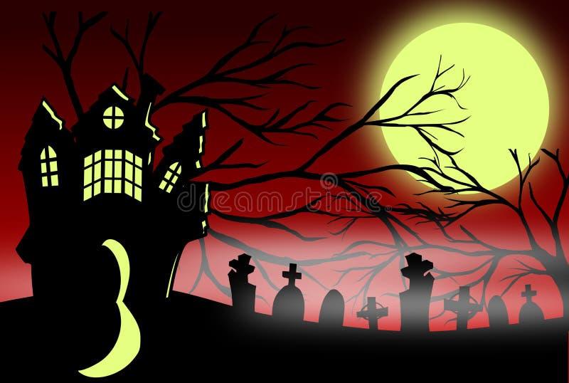 Maison gothique illustration de vecteur