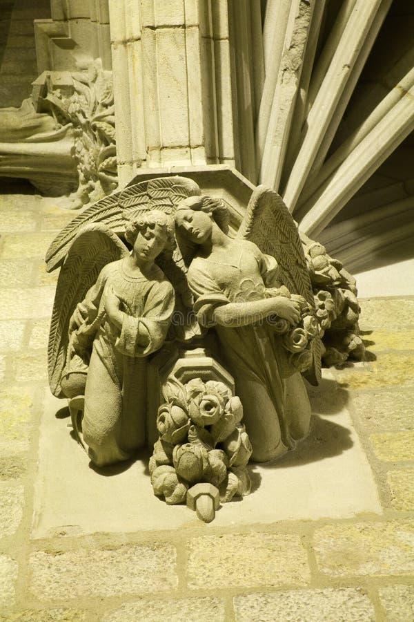 maison gothique de groupe de Barcelone images stock