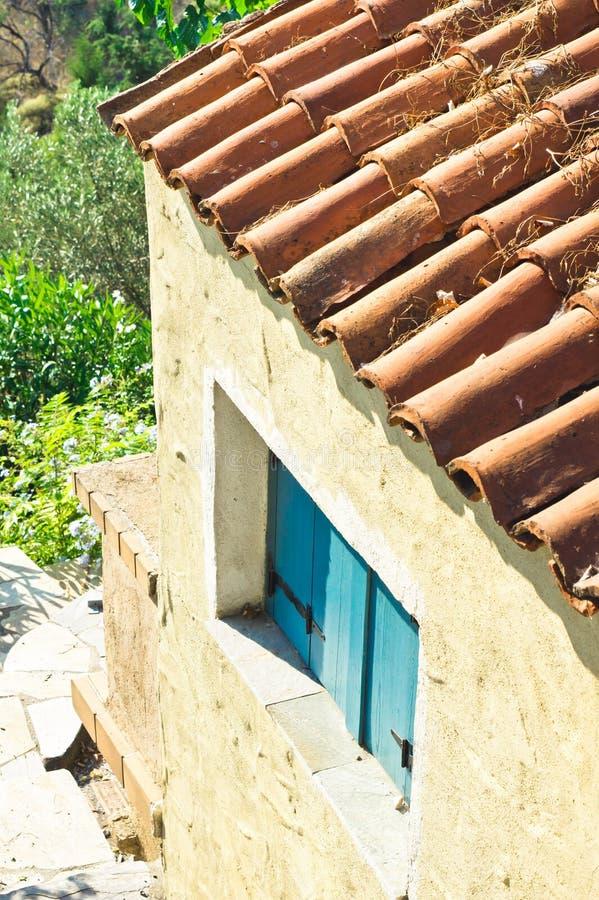 Maison grecque photo stock