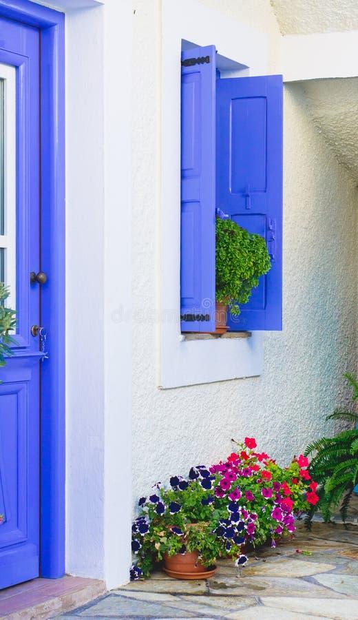 Maison grecque images stock