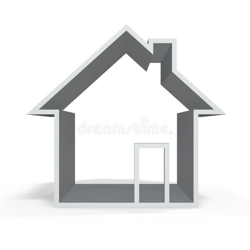 maison grise illustration de vecteur