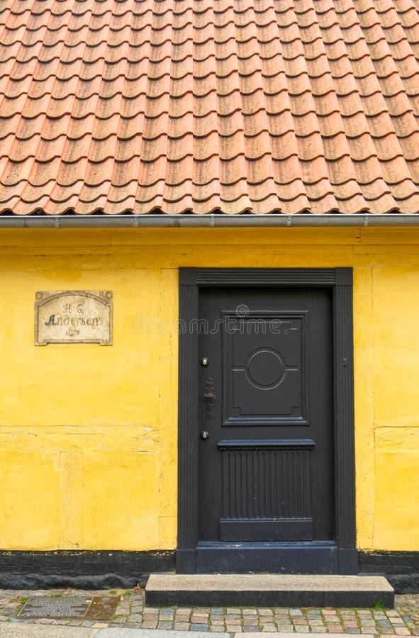 Maison Hans Christian Andersen Odense, Funen / Danemark photo stock