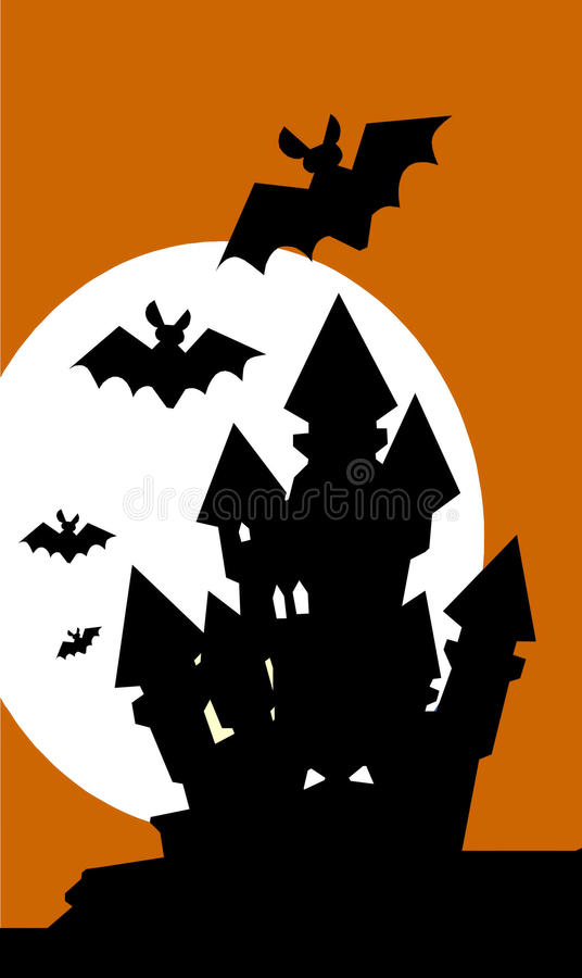 Maison hantée illustration stock