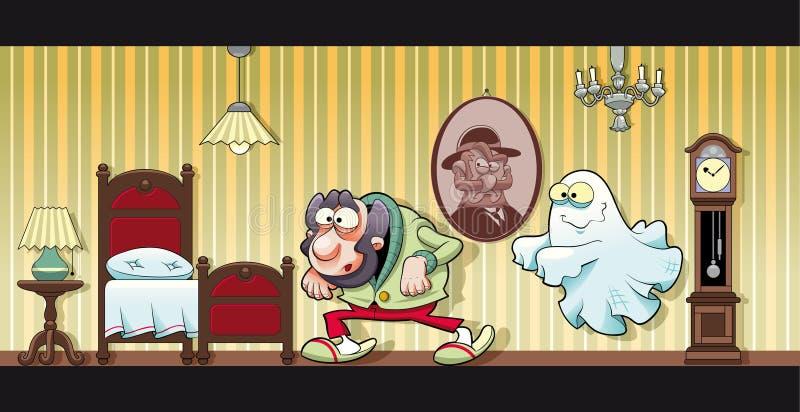 Maison hantée. illustration libre de droits
