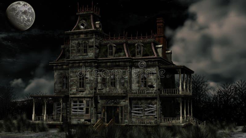 Maison hantée illustration libre de droits