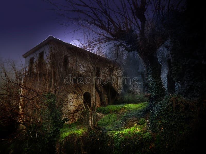 Maison hantée illustration de vecteur