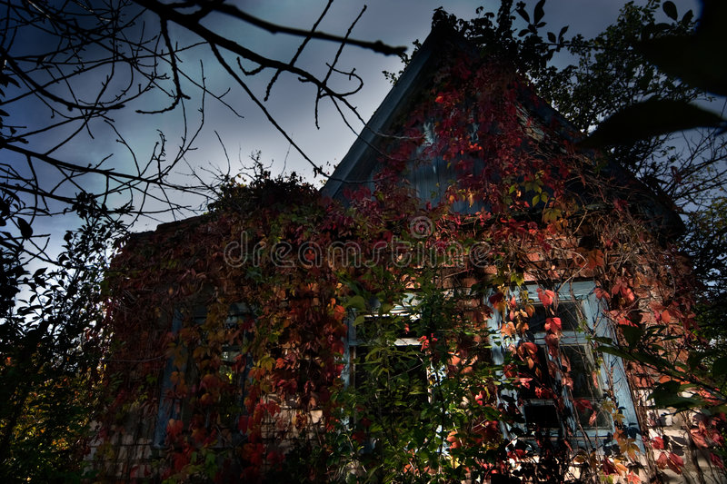 Maison hantée photo stock