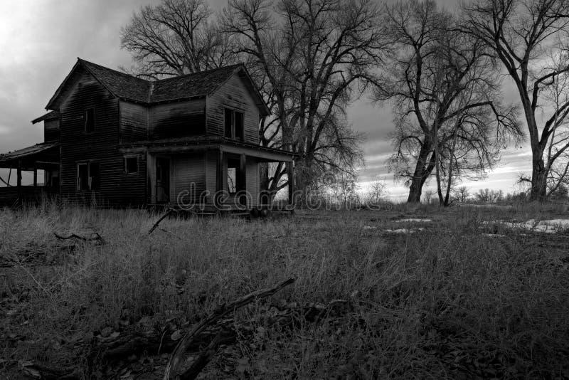 Maison hantée image stock