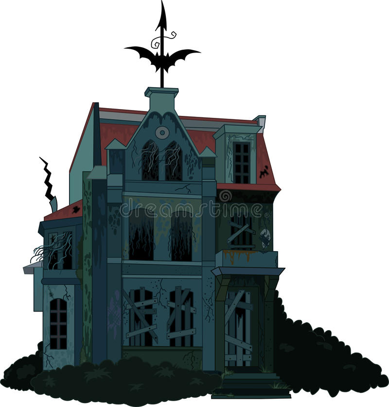 Maison hantée fantasmagorique illustration libre de droits