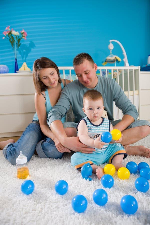 maison heureuse de famille photographie stock