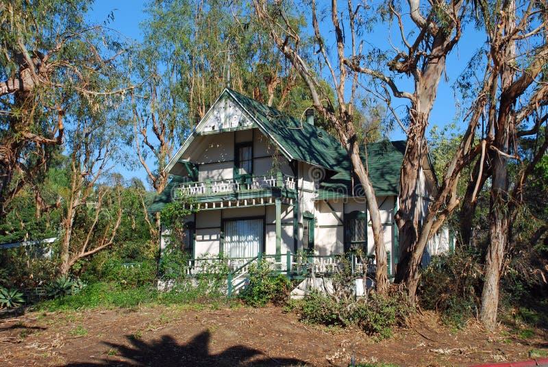 Maison historique dans le Laguna Beach, la Californie photo stock
