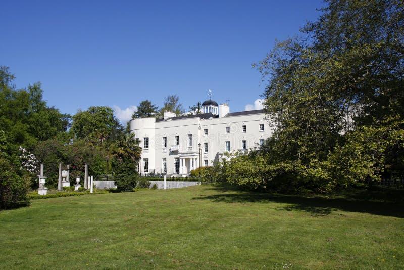 Maison historique de Sketty Hall à Swansea, Pays de Galles photo libre de droits