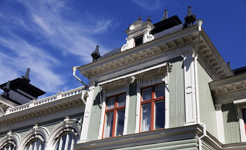 Maison historique, maintenant locataires une société de logement image stock