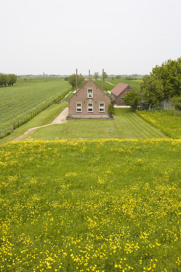Maison hollandaise de ferme photo libre de droits