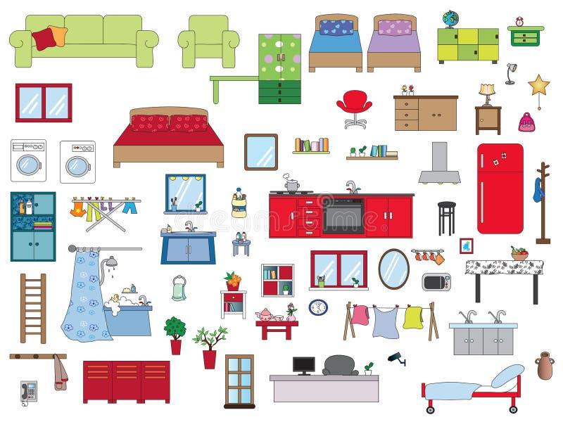 Maison intérieure illustration stock
