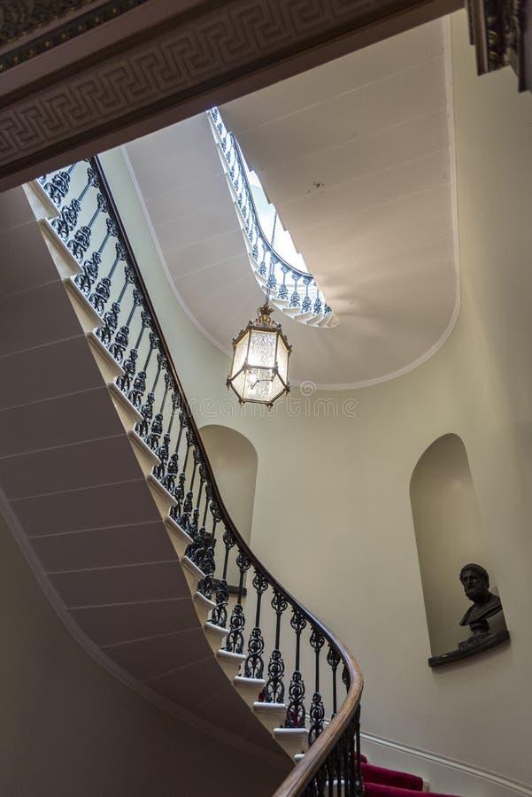 Maison intérieure d'Osborne d'escalier image stock