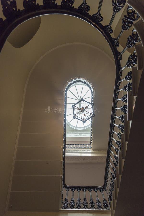 Maison intérieure d'Osborne d'escalier images libres de droits