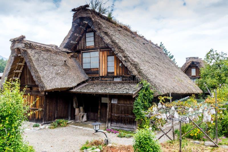 Maison japonaise traditionnelle de ferme image stock for Construction maison japonaise