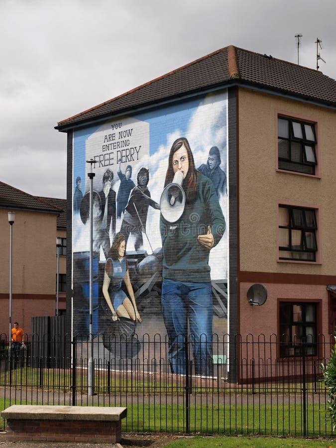 Maison libre de Derry images libres de droits