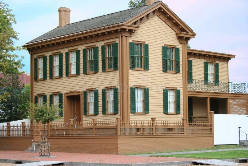 maison Lincoln d'abe photo stock